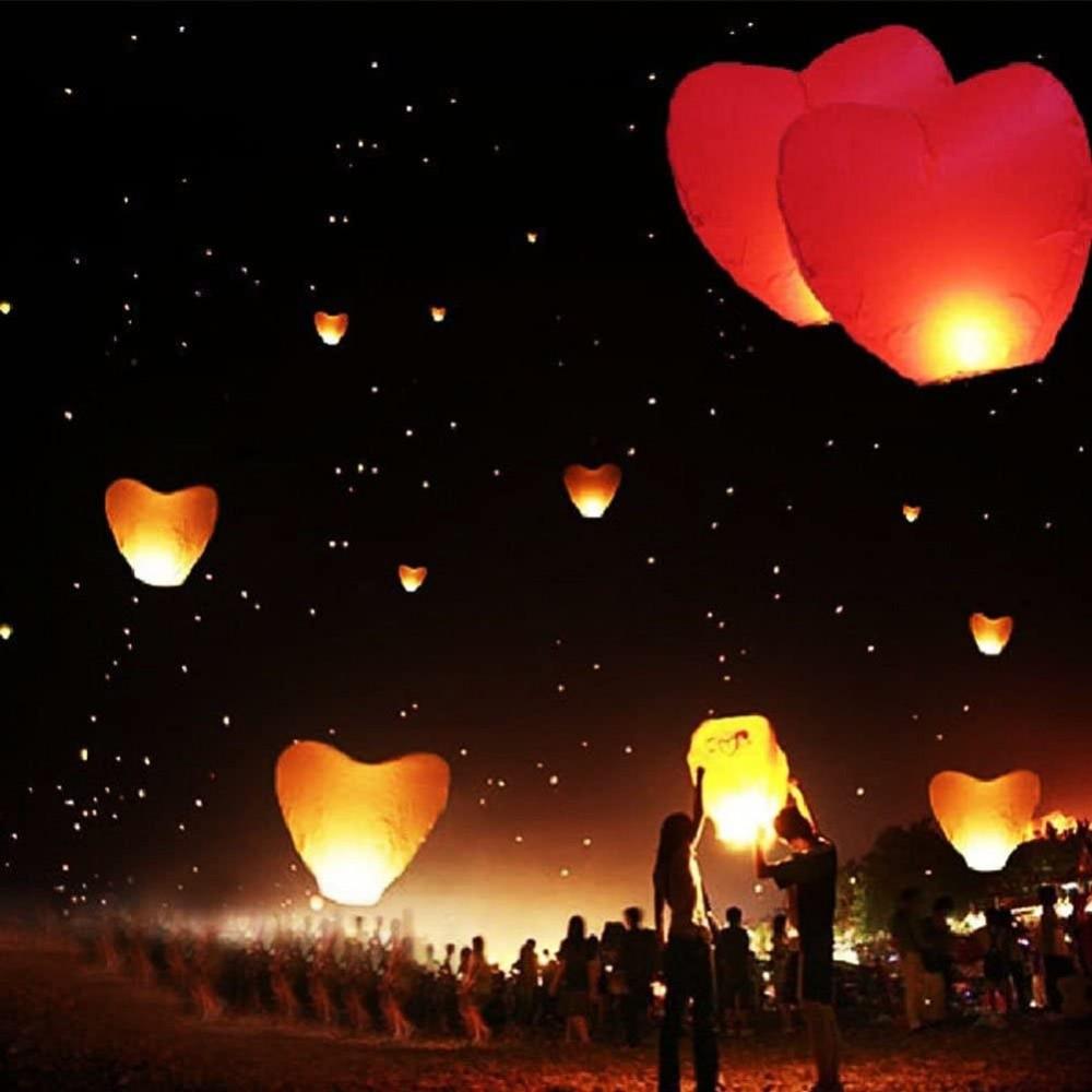 tellementhappy/™ tellementhappytm lanterne volanti lanterna cinese volante 100/% biodegradabile bianca 30 pezzi Sky Lantern