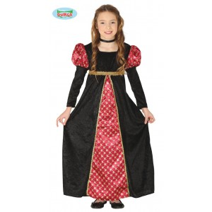 COSTUME BAMBINA CONTESSA VAMPIRO DRACULA TWILIGHT TRAVESTIMENTO HALLOWEEN PARTY